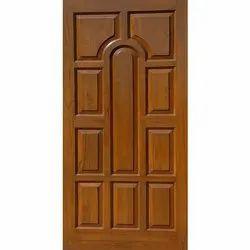 Brown African Teak Wood Door