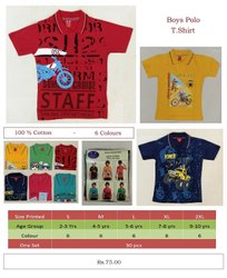 Kids Printed Polo T Shirt