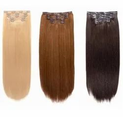 Indian Human Hair Clip On With Three Color For Women And Girl Cheveux Meche