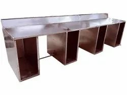 Stainless Steel Computer Table, Size: 2.5*8 Feet