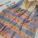 Beautiful Designer Bagru Hand Block Printed Pure Chanderi Silk Saree