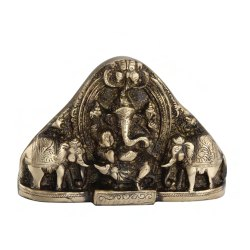 7 inch Brass Ganesh With Elephant Gift Pack Box