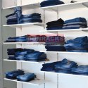Wooden Garment Slatwall Display
