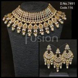 Fusion Kundan Bridal Necklace Set