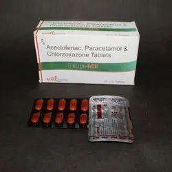 Aceclofenac Paracetamol and Chlorzone Tablets