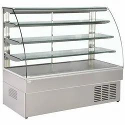 4 Shelves Curved Display Counter