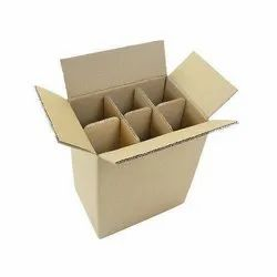 Brown Rectangular Bottle Packaging Corrugated Box, Size(LXWXH)(Inches): 1 X 2 X 2 Feet