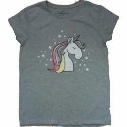 White Girls Printed Top, Size: 6 to 14 Years