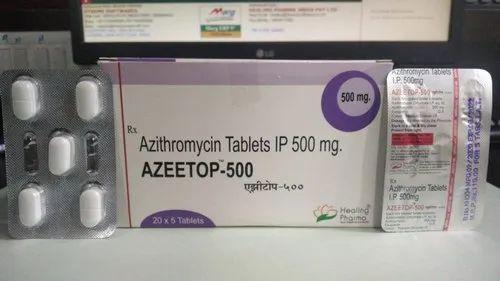 Azeetop-500 Azithromycin 500mg Tablets, 5 Tablets