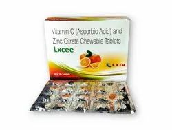 Vitamin C (Ascorbic Acid)100mg And Zinc Citrate 5mg Chewable Tablet