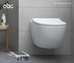 Matte Closed Front Ceramic Wall Hung Toilet