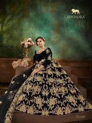 Black Embroidered Senhora Dresses