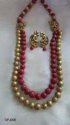Terracotta Jewellery long necklace set