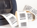 Printed Paper Barcode Label, Packaging Type: Roll, Gsm: 80