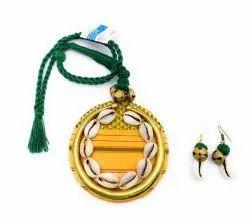 Yellow Cowrie Fabric Jewellery
