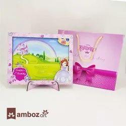 Cute Little Princess Theme Wooden Photo Frame For Return Gift