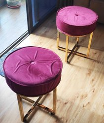 SS Finish Metal Round Table, For Home, Size: Standard