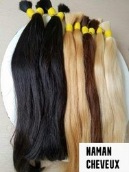 Black And Shiny White  Indian Human Hair Extension  For Women And Girl Cheveux Meche