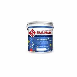 Shalimar Water Based Paint Weatherpro Super Premium 100% Acrylic Emulsion, Brush, Packaging Type: Bucket