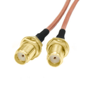 RG316 Coax Cable Jumper Pigtail with SMA Female to SMA Female Jack Bulkhead Crimp Connector