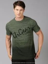 Cotton Green Mens Yarn Dyed Striped T Shirts