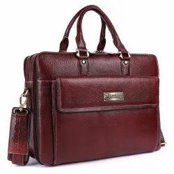 Hammonds Flycatcher Original Bombay Brown Leather 15.6 inch Expandable Laptop Messenger Bag