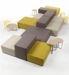 FABRIC Modern Modular Sofa Set, Hall, Seating Capacity: 12
