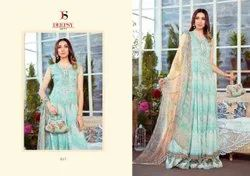 Deepsy Suit Lunched Maria M Print Pure Cotton Print With Embroidery Suits