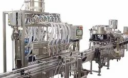Corrosive Liquid Packaging Line For Cleaning Chemicals