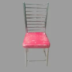 Red Powder Coated Iron Restaurant Chair