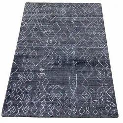 For Home Blue Handmade Rug Carpet