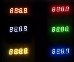 7 Segment Four Digit Clock Display