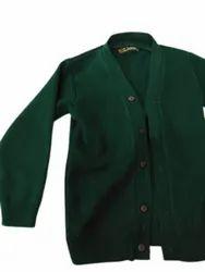 Girls Green School Woolen Sweater