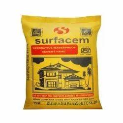 Surfacem Decorative Waterproof Cement Paint, Packaging Size: 25 kg