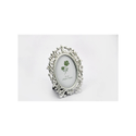 White Oval Silver Photo Frame