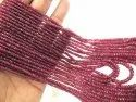 Natural Ruby Rondelle Faceted Top Quality 2.5 To 4mm Graduated Beads Sold Per Strand 8 Inches Long
