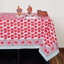 6 Seater Block Print Table Cloth