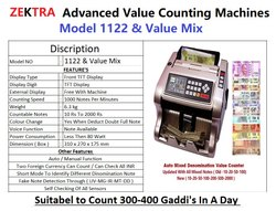 Mix value money counting machine