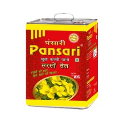 Yellow Pansari Kacchi Ghani Mustard Oil (15 L), Packaging Type: Tin, Packaging Size: 15kgs