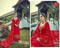 Rsf Present Ozas Satin Georgette Long Eid Special Designer Suits