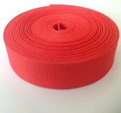 Sanyam Red PP Webbing Tape, Packaging Type: Roll