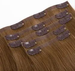 Brown Clip On Hair Extension For Women And Girl Clip Extension