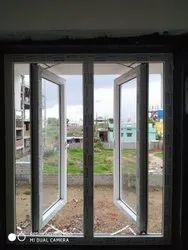 White HAUSLER UPVC Casement Windows, Glass Thickness: 5 Mm