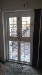 Hinged GI Two Leaf French Door, Powder Coated