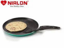 1 Aluminium Nirlon Non Stick Greenchef Granite Flat Tawa, Size: 26cm