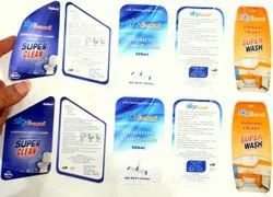 White Paper Label Sticker, Packaging Type: Packet