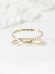 Super Thin Hammered  Ring