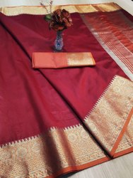 Sanvedana Fashion Party Wear Rich Krystal Silk Saree, With Blouse Piece, 5.5 M (Separate Blouse Piece)