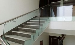 Panel Tempered Glass Stainless Steel Modular Railing Systems, For Home