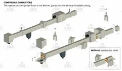 CMK Pvc Giovenzana Conductor Rail, Max Lifting Capacity: 1 Ton, Size/Dimension: 60 X 60 Mm